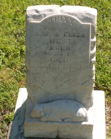 Della Beatrix West Headstone
