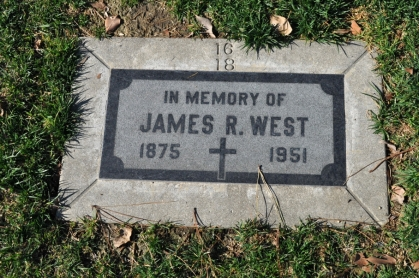 Headstone James R West