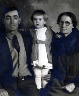 ames Richard West, son James Edward West, Eliza Crittenden West around1905 in Roswell, New Mexico