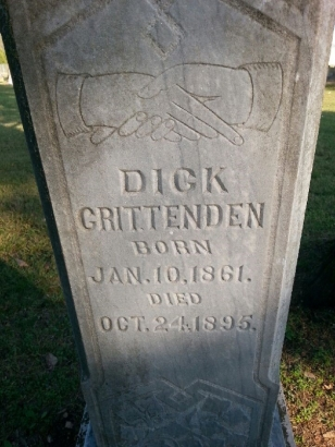 Dick Crittenden Headstone Closeup
