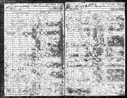 1896 Cherokee Census