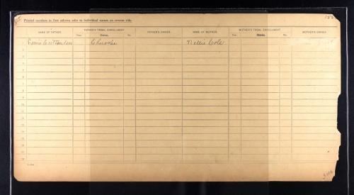 Emily Crittenden Weaver Dawes Census Card 2