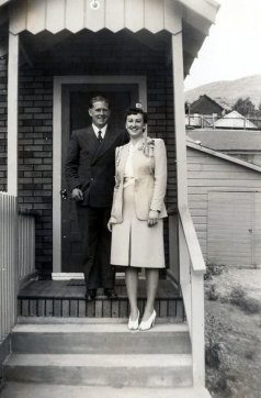 Joe and Nita Moore on their Wedding Day, July, 13, 1941