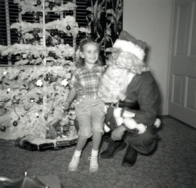 Me with my Dad as Santa Claus 1951