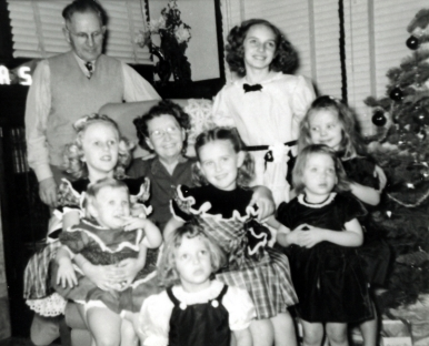 My Paternal Grandparents with Grandchildren 1951